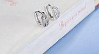 Серебряные серьги, серьги 925 пробы, серьги из стерлингового серебра, женские серьги,  серьги цирконием, фото 1