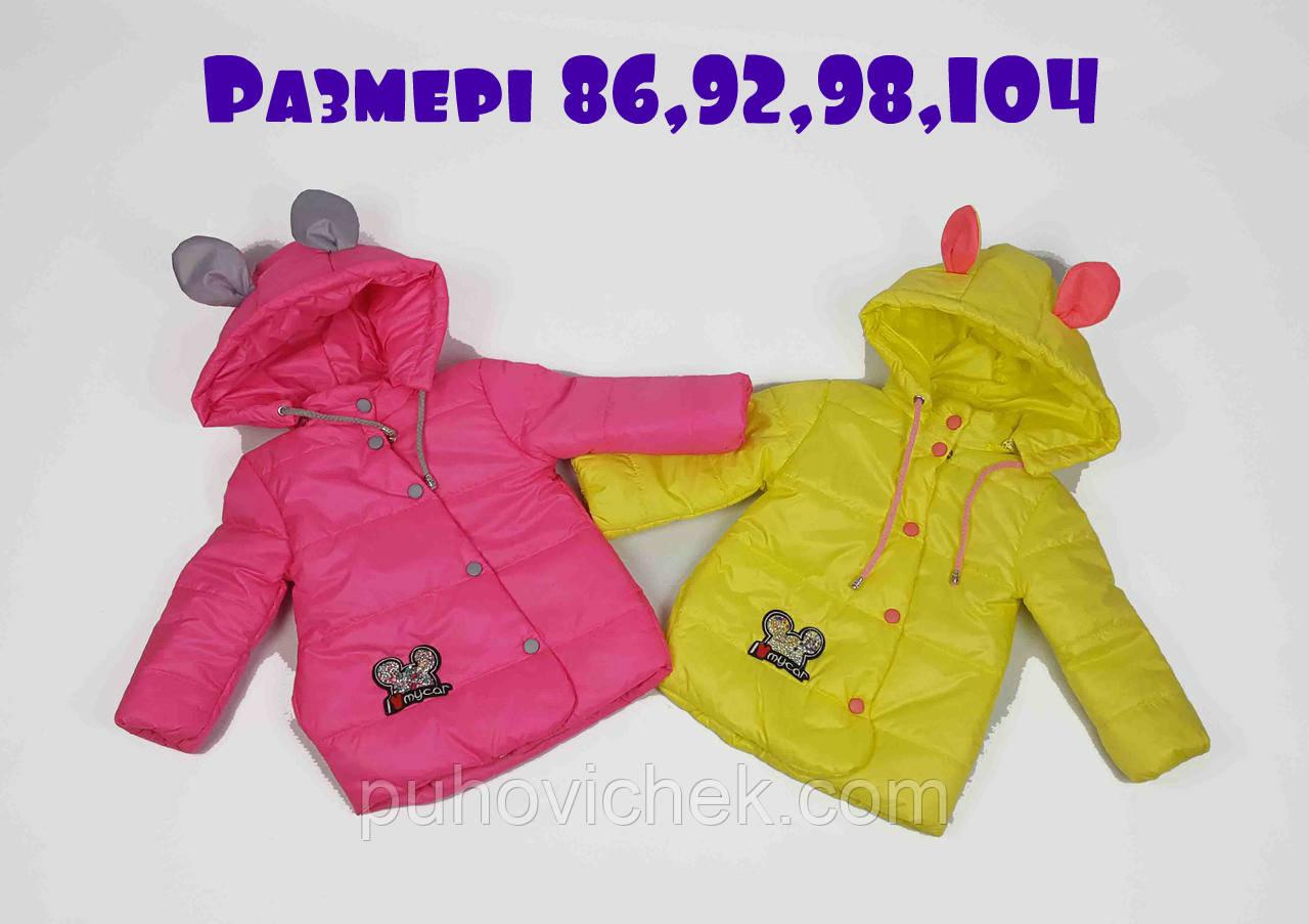 Весенние курточки детские для девочек интернет магазин с ушками