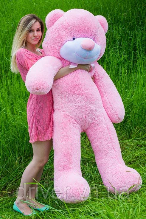 М'яка іграшка ведмедик Рафік 160 см, рожевий
