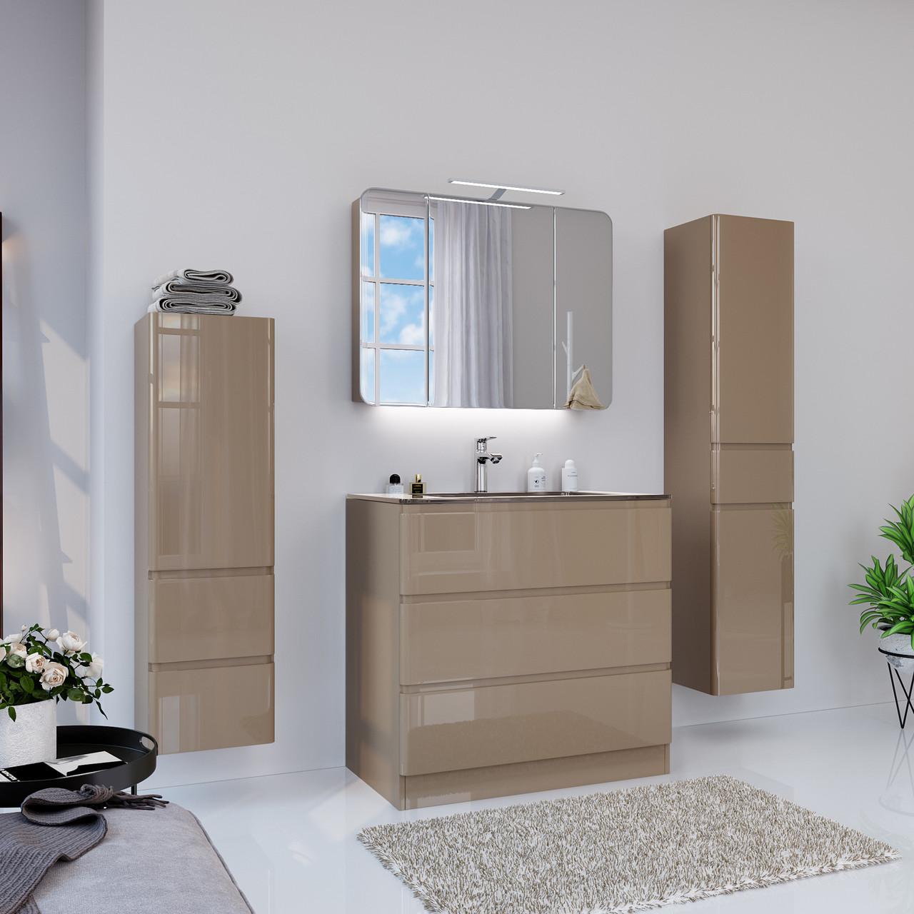 Тумба для ванной комнаты Marsan Adele 2 900 капучино