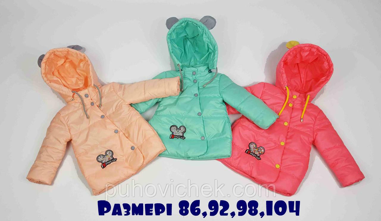 Яркие демисезонные курточки на девочек от производителя