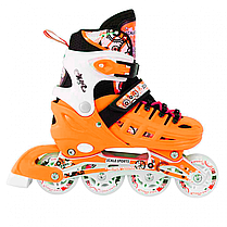 Ролики для детей 31-34, 35-38 р. Scale Sport - Оранжевые, фото 2