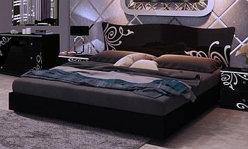 Кровать Богема 180*200 без каркаса глянец черный ТМ Миро Марк, фото 3