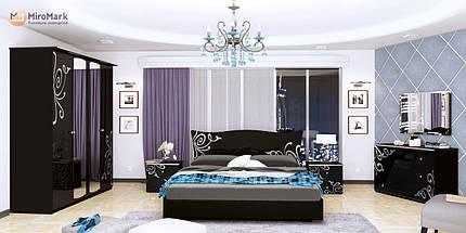 Кровать Богема 180*200 без каркаса глянец черный ТМ Миро Марк, фото 2