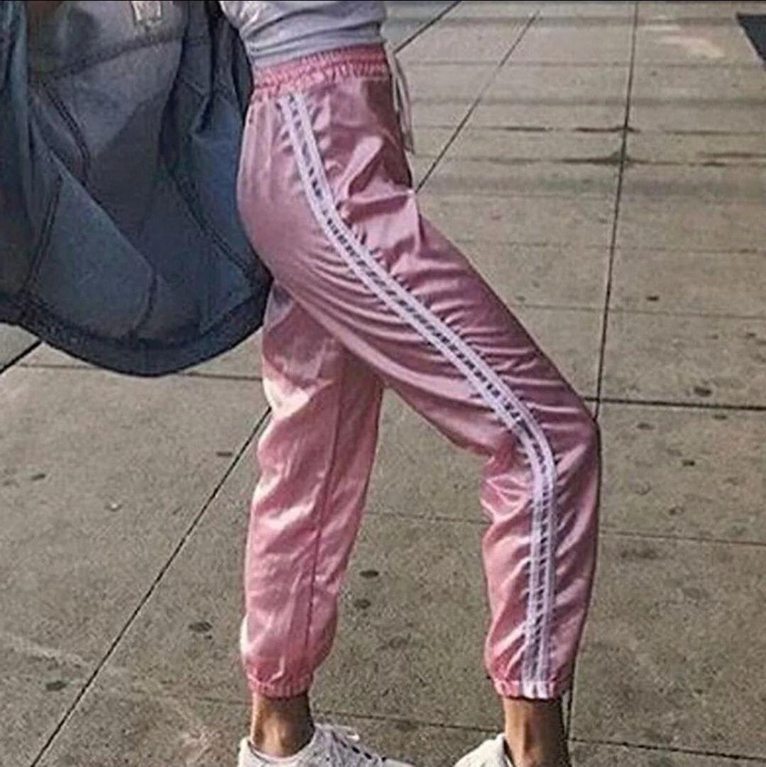 розовые спортивные штаны купить