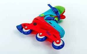 Раздвижные детские ролики Zelart - Kids Бакли - Зеленые 27-30р. (rlzb131), фото 2