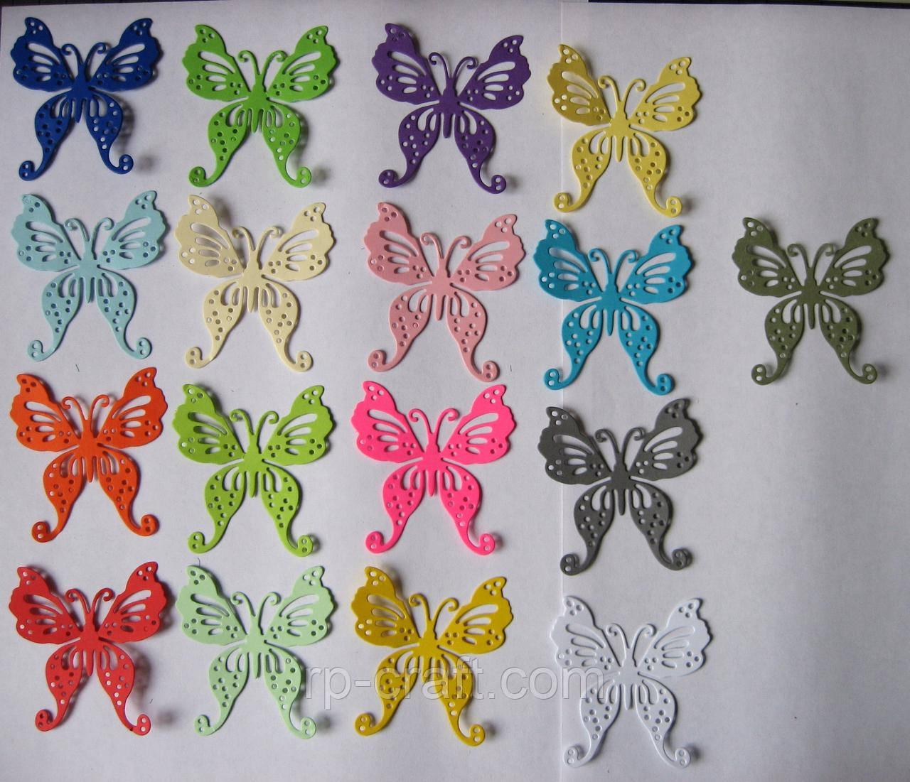 Вирубка з картону. Метелик, 55х58 мм