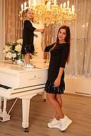 Нарядное платье с пайетками в семейном стиле для мамы и дочки