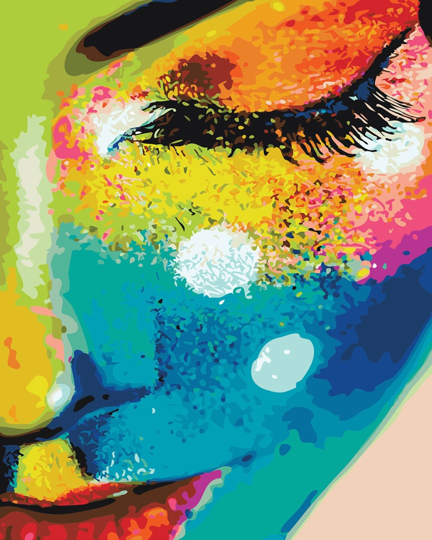"""Картина по номерам """"Женщина в красках"""""""