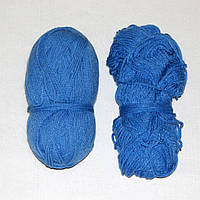 Остатки пряжи, нитки для вязания ГОЛУБЫЕ, акрил, вес 100 гр