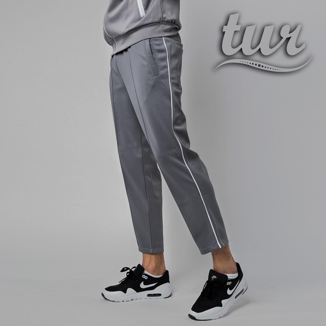 Спортивные штаны мужские серые бренд ТУР модель Кейдж (Cage) размер S, M, L, XL