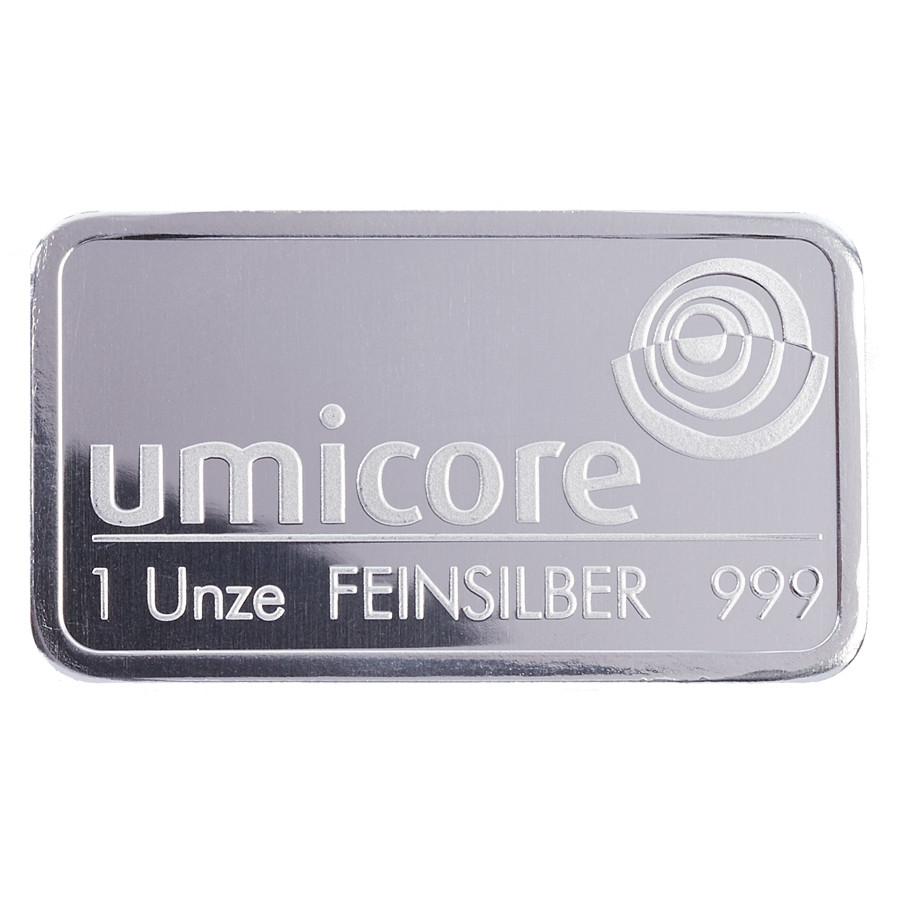 Слиток Серебро 1 тройская унция грамм Umicore