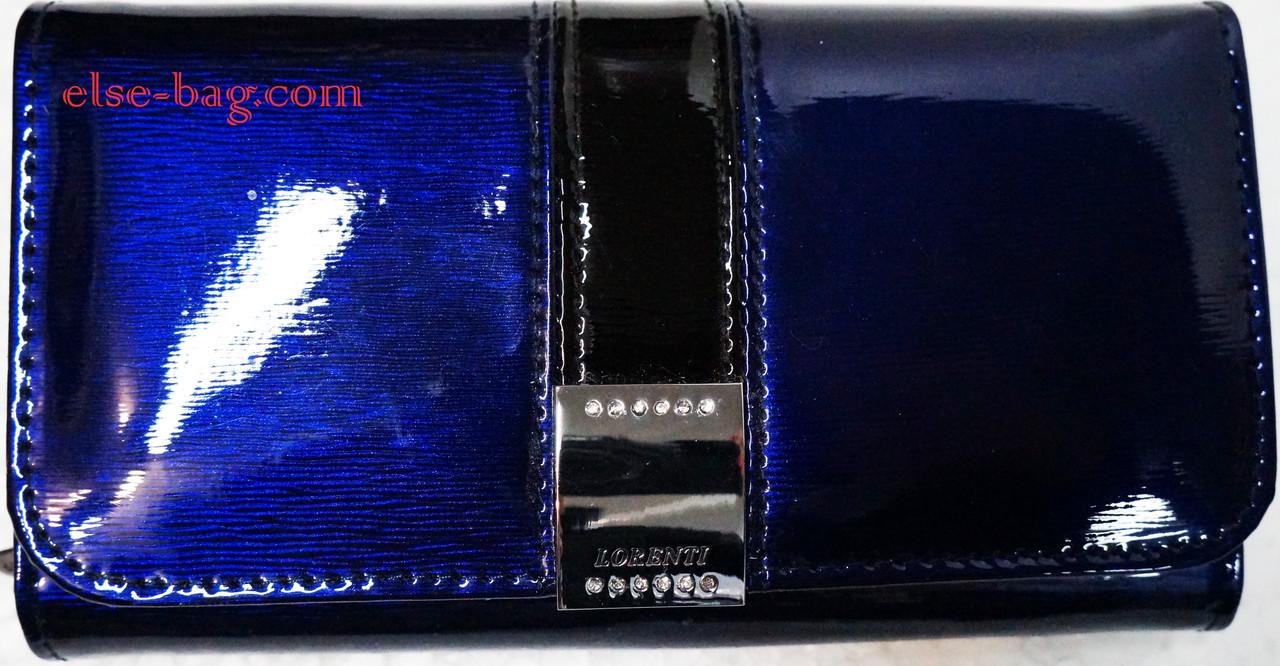 Кошелек синий электрик лаковый
