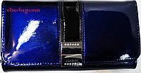 Кошелек синий электрик лаковый, фото 1