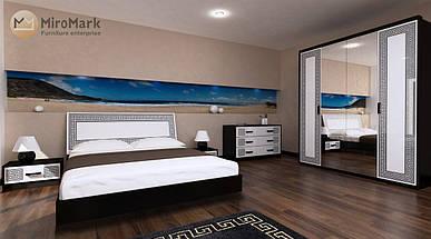 Кровать Виола 180*200 без каркаса глянец белый-черный мат  ТМ Миро Марк, фото 2