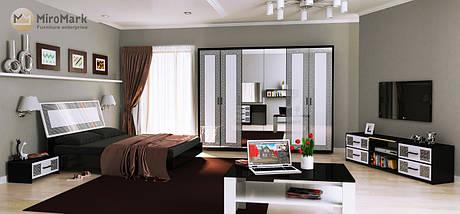 Кровать Виола 180*200 без каркаса глянец белый-черный мат  ТМ Миро Марк, фото 3