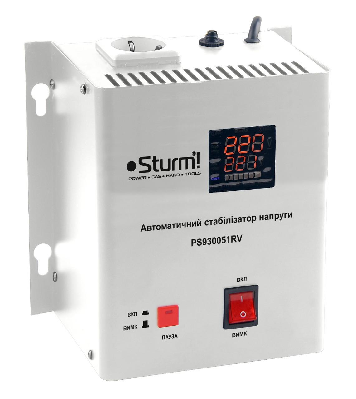 Стабилизатор напряжения релейный 500 ВA настен. Sturm PS930051RV