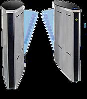 Турникет SPEEDBLADE-1 (правая + левая стойки), крашеный, цвет RAL 9005/на выбор, столешницы - черное стекло, фото 1