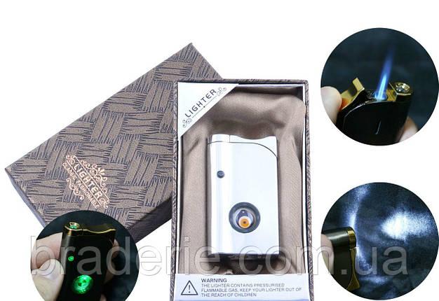 Зажигалка подарочная в коробочке XD-1-3 глаз фонарик, фото 2
