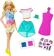 """Лялька Барбі """"Дизайнер"""" кольоровий штамп - розмальовка одягу Barbie Crayola Color Stamp Set Моди"""