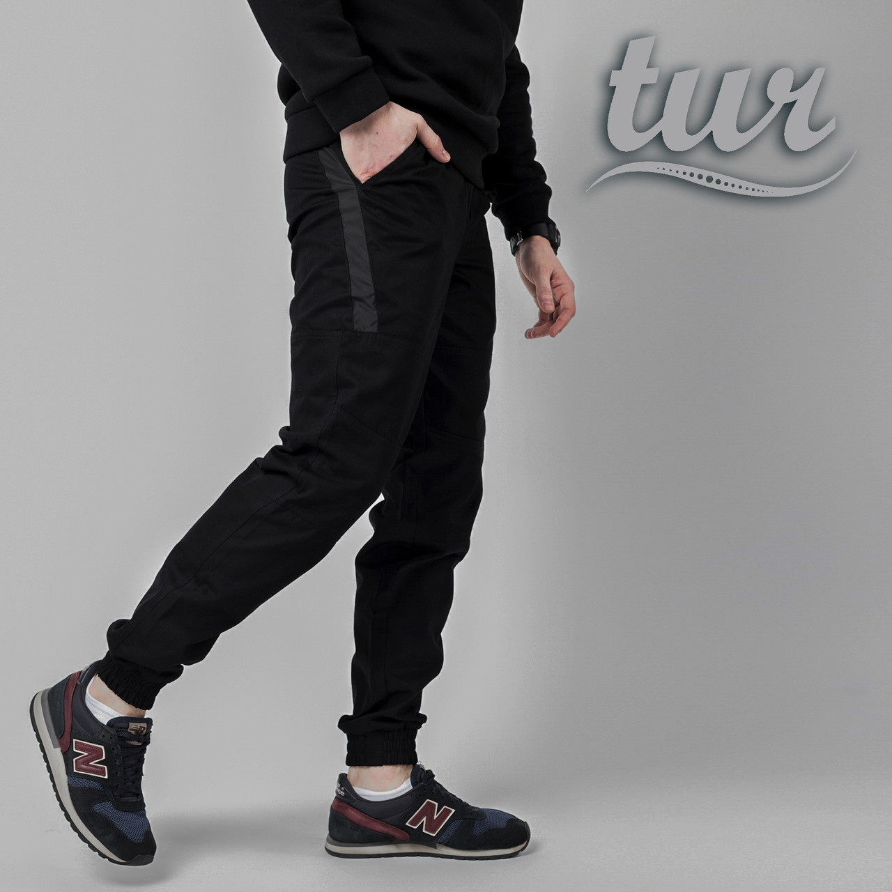 Штаны джоггеры мужские черные от бренда ТУР  Мэд Макс (Mad Max) размер XL, XXL