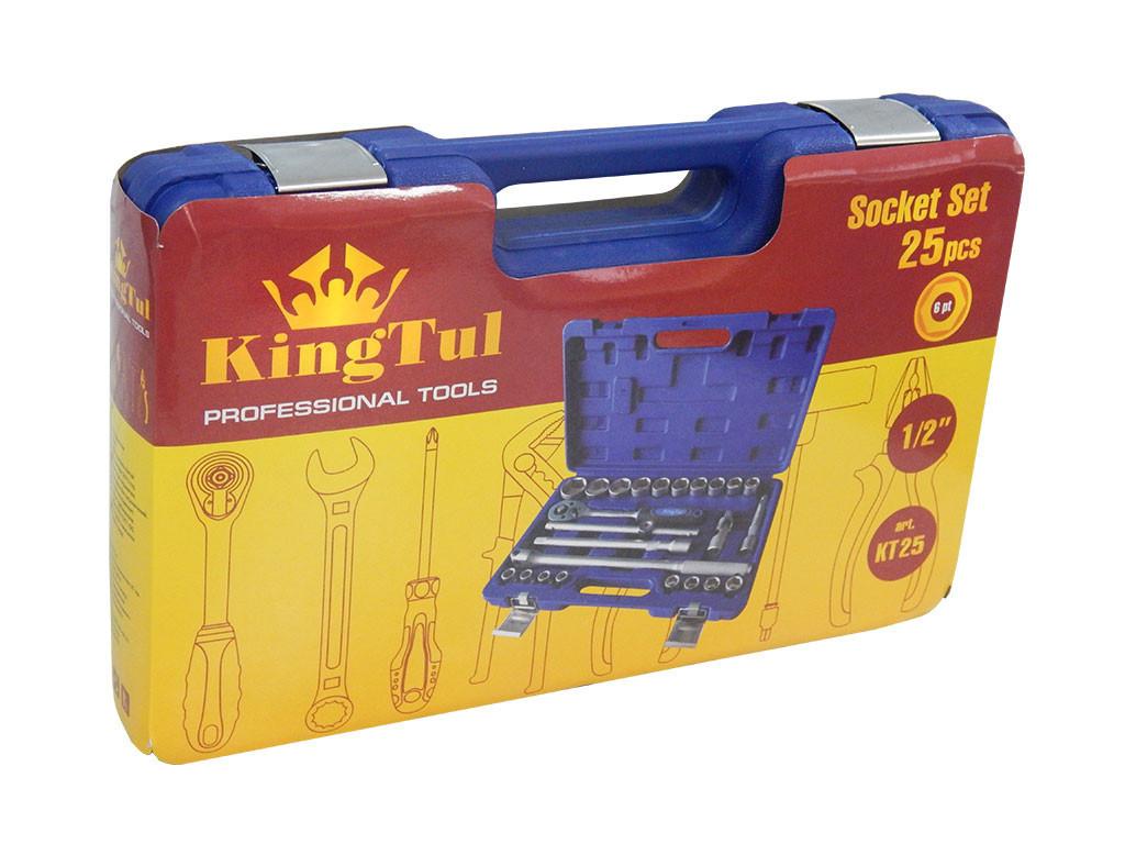 """Набір інструментів 1/2"""", 25 предметів (9-32мм, (6-гр.) // KINGTUL KT-25 код. 2120"""
