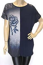Жіноча літня футболка, великі розміри, фото 2