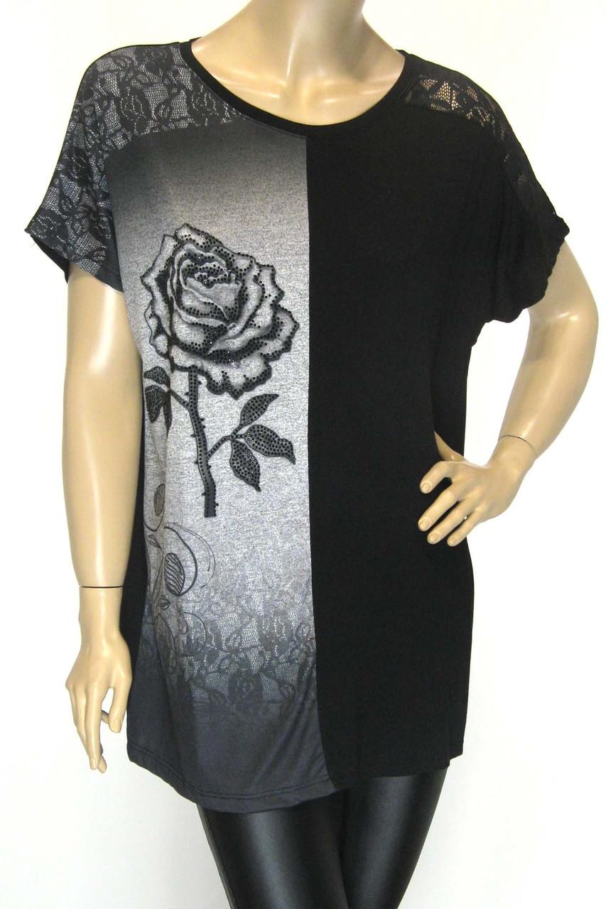 Жіноча літня футболка, великі розміри