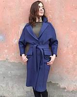 Легкое пальто из вареной шерсти без подкладки рр 42-50, фото 1