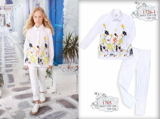 Детская одежда Моне, рубашка для девочки р-р 140