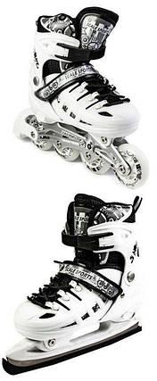 Раздвижные Ролики Коньки 2в1 30-33 -  Scale Sport Белые, фото 2