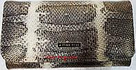 Кожаный женский кошелек с питоновым принтом, фото 1
