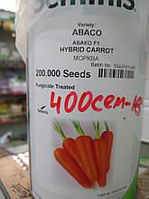 """Семена морковь столовая суперранняя  Абако F1, тип Шантане 400 семян, """"Seminis"""", Голландия"""