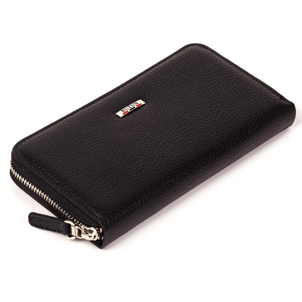 Женский кошелек Butun 639-004-001 кожаный черный