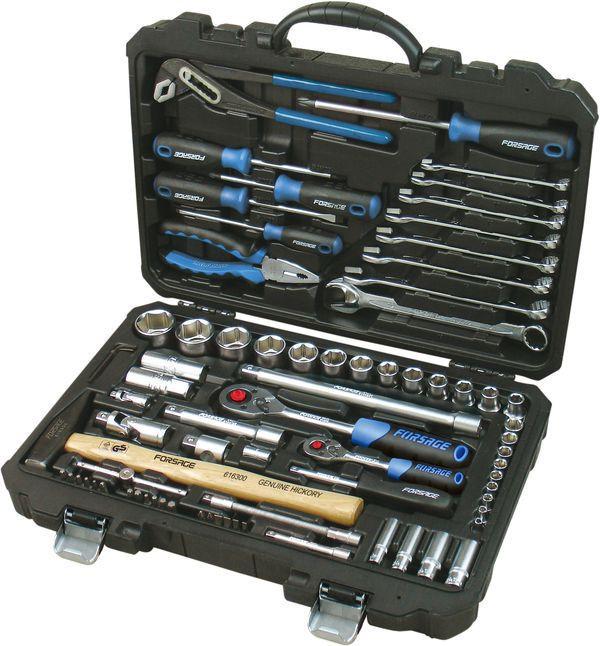 """Набір інструментів 1/4"""", 1/2"""", 77 предметів (6-гр.) // Forsage 4772-5 код. 9808"""