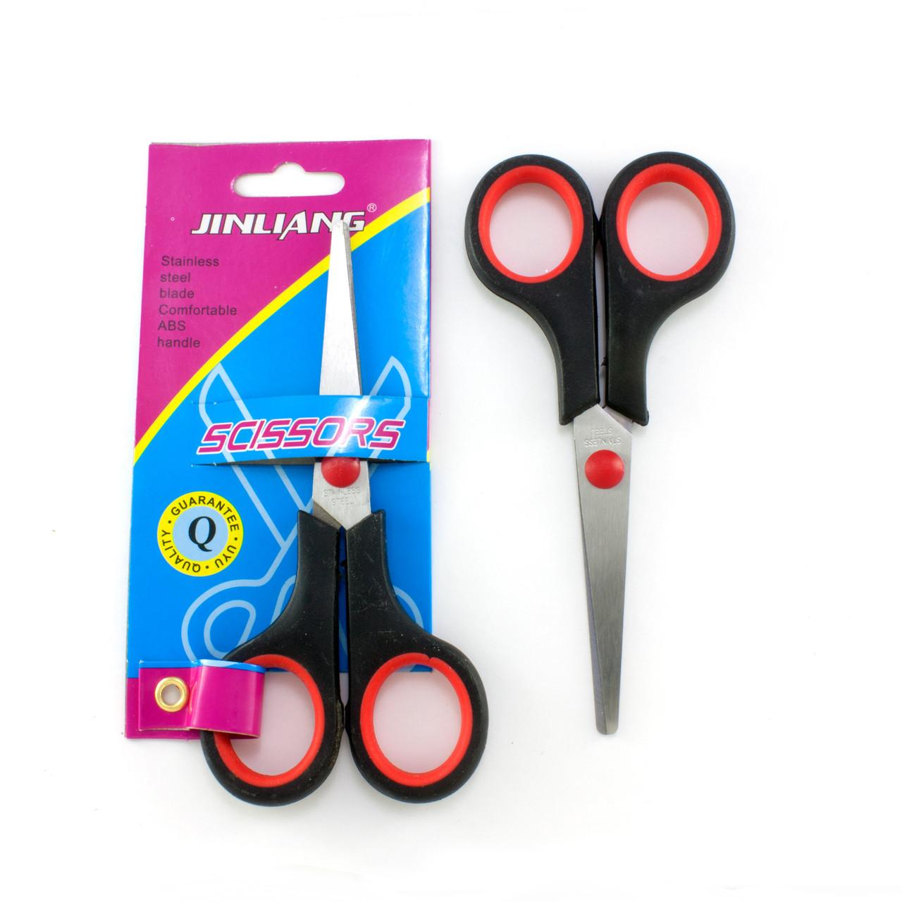 Ножницы офисные 13,5см с пластиковыми прорезиненными  ручками