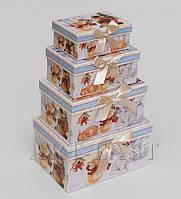 Набор из 4 подарочных коробок Новогодние