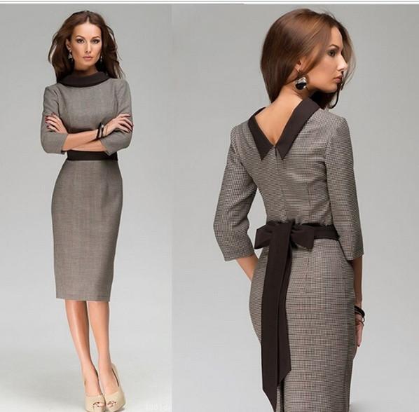 Офисные женские платья