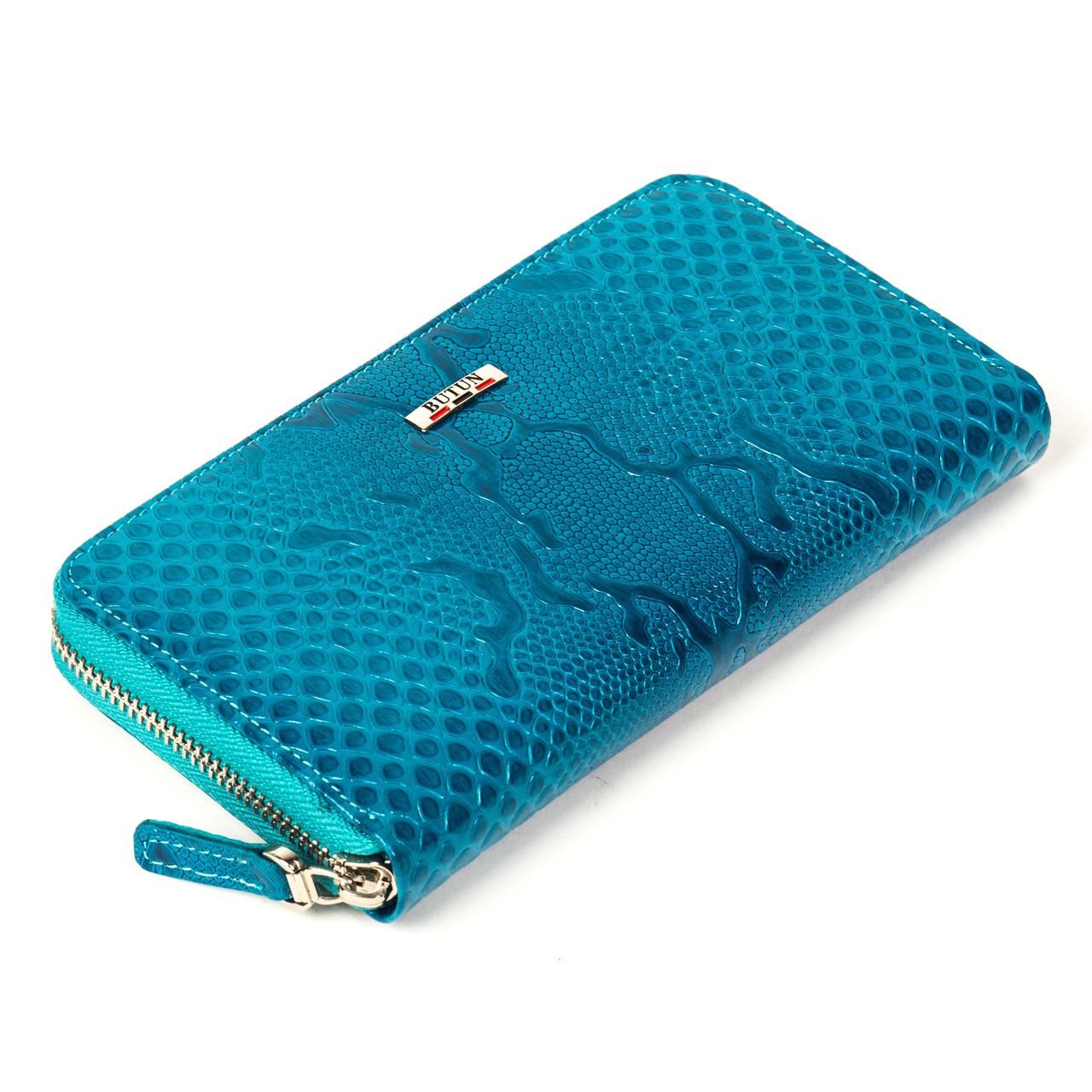 Женский кошелек Butun 639-008-037 кожаный бирюзовый