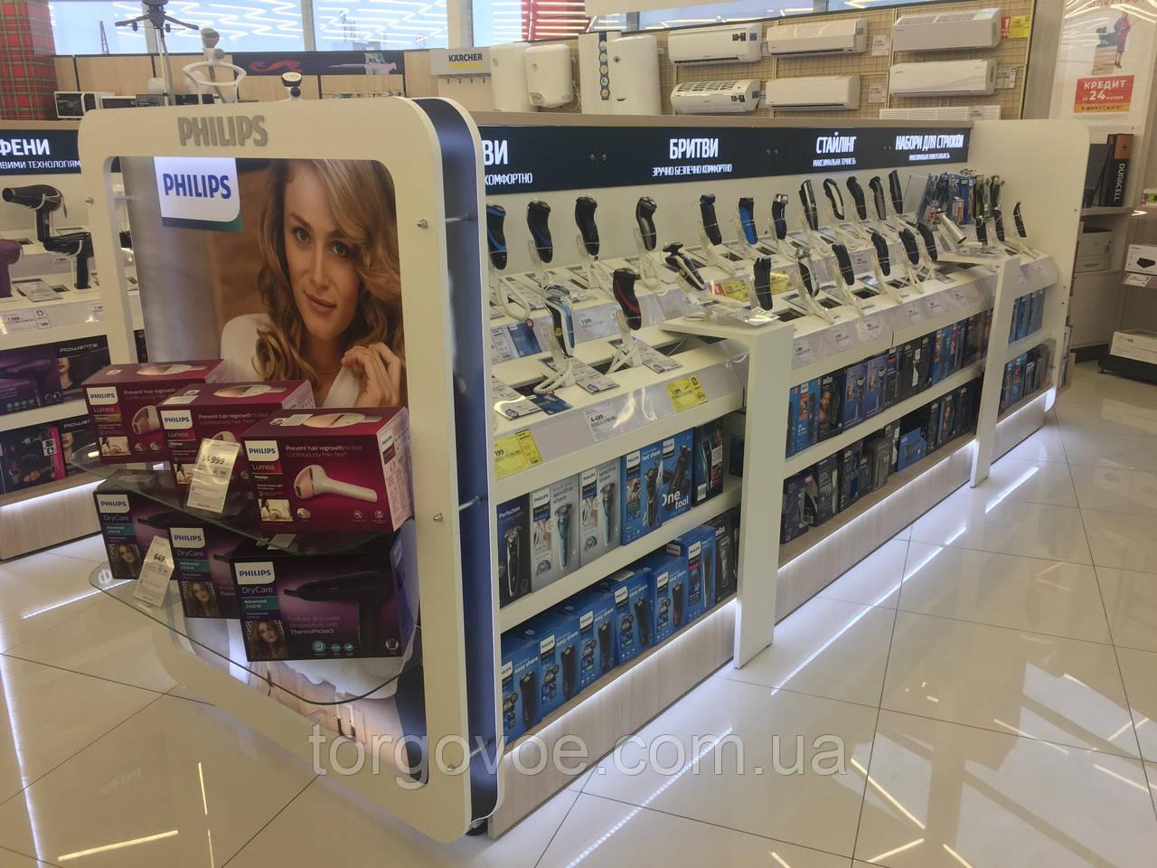 Брендинг торгового оборудования для магазинов электроники и бытовой техники. Стильное торговое оборудование, фото 1