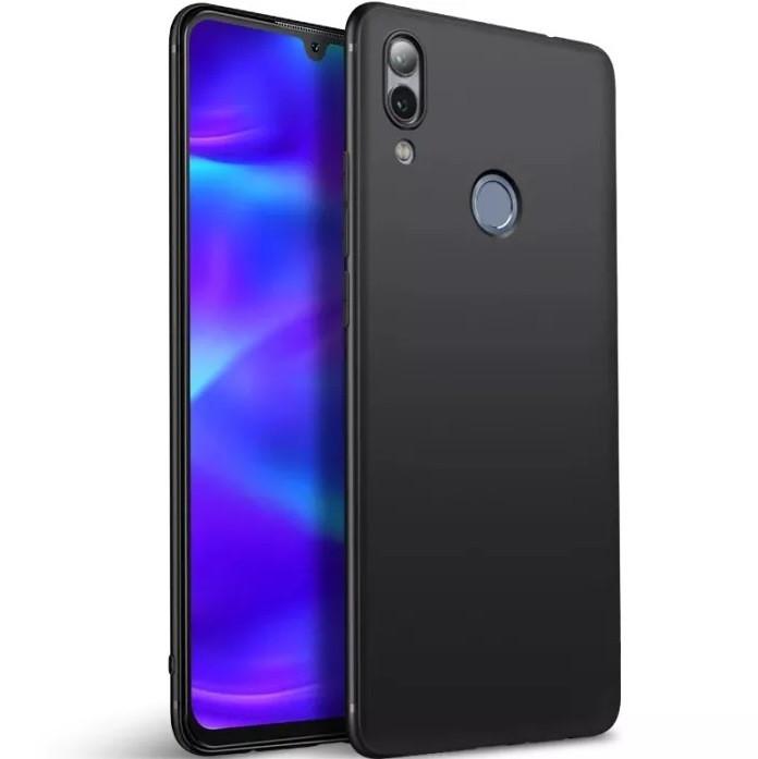 """Накладка Huawei P Smart 2019 """"Soft-touch"""" Черная"""