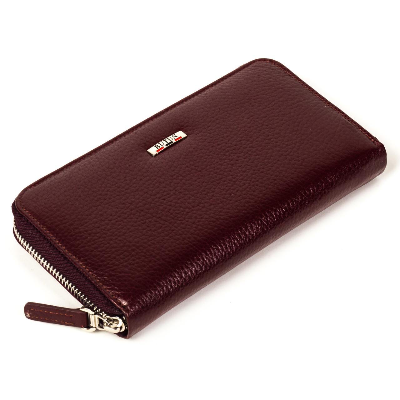 Женский кошелек Butun 639-004-002 кожаный бордовый