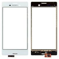 Тачскрин для Sony E2303 Xperia M4 Aqua LTE/E2306/E2312/E2333/E2353/E2363, белый Оригинал