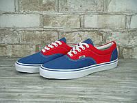 Кеды Vans Era (ванс) реплика AAA+ размер 37-44 синий (живые фото), фото 1