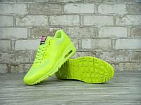 Кроссовки Nike Air Max 90 Hyperfuse реплика ААА+ размер 36,38-40 салатовый (живые фото), фото 1