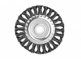 Щетка для УШМ (150мм радиал.стальн.витая пров.) Sturm 9017-03-WB150