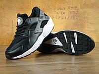 Кроссовки Nike Air Huarache реплика ААА+ (натуральная кожа) размер 36-45 черный (живые фото), фото 1