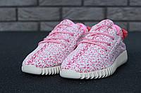 Кроссовки женские Adidas Yeezy реплика ААА+, размер 36-40 розовый