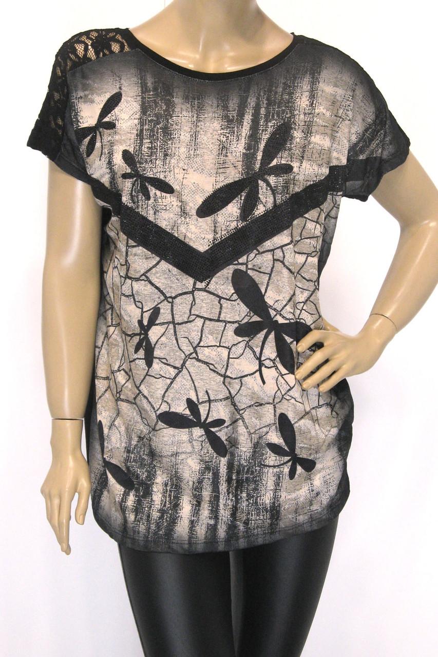жіноча  футболка з принтом стрикороза
