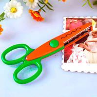 (№3) Ножницы  детские с фигурными лезвиями №3. Цена за 1шт, фото 1